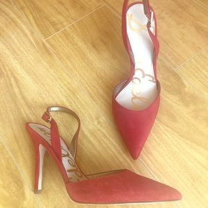 Sam Edelman Dora Red Slingback Pumps Size 7.5 New